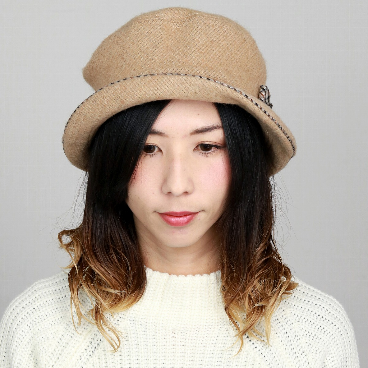 03ad4485 ... Product made in DAKS hat wool fabric Lady's hat fashion Mrs. sailor hat  check Hattori ...