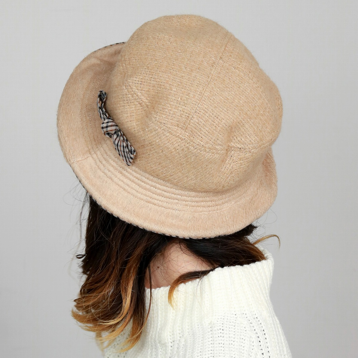 9eed8bd8 ... Product made in DAKS hat wool fabric Lady's hat fashion Mrs. sailor hat  check Hattori