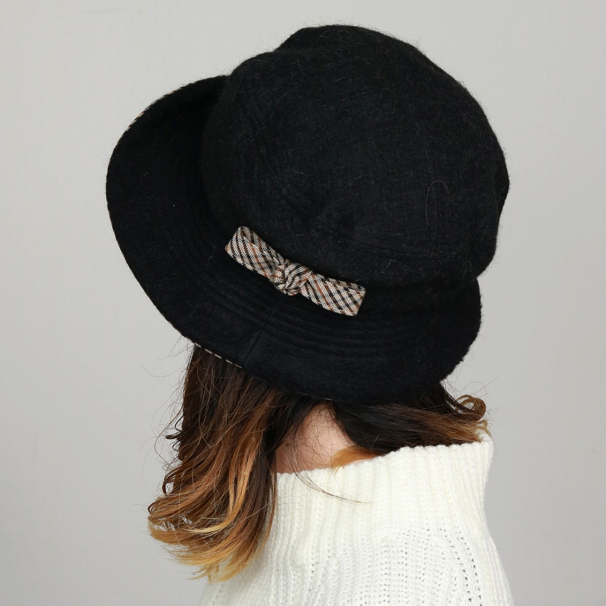 32e57e73 ... Product made in lady's hat wool fabric DAKS hat fashion Mrs. sailor hat  check Hattori