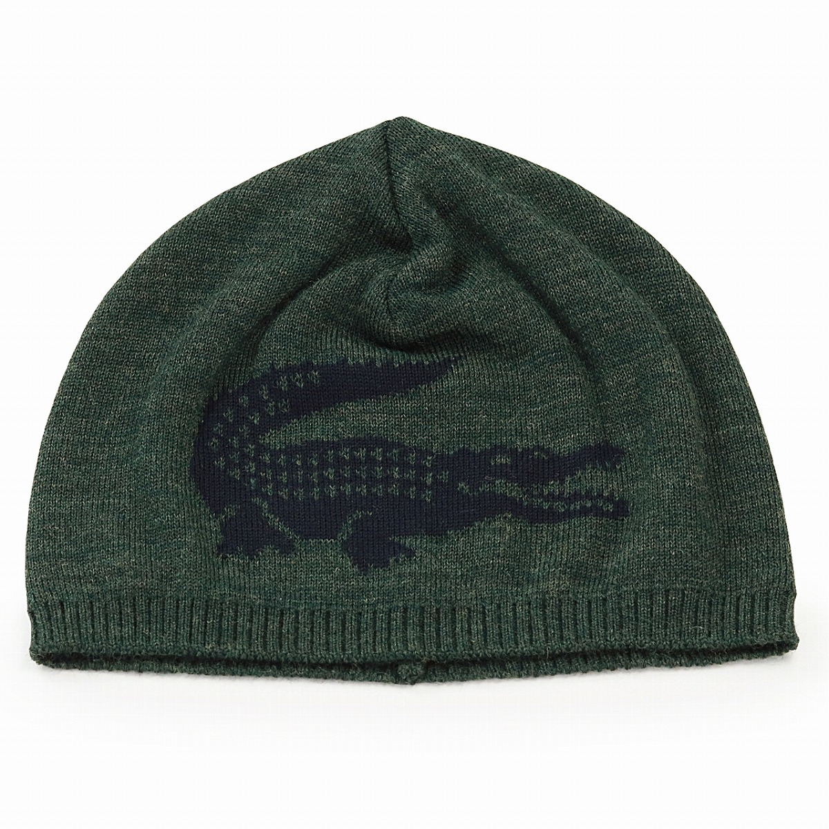 0c604e5afa5 ビーニーカジュアルレディースニットワッチウール 100% unisex knit hat crocodile mark fall and winter  Pau tea gentleman casual clothes brand sports   green ...
