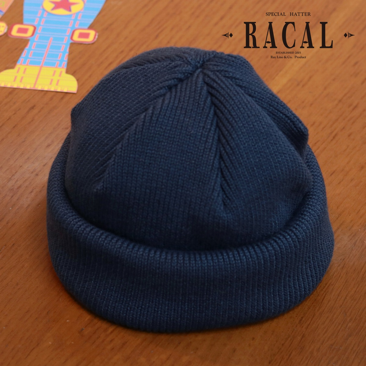 7dd29aacc9425 racal knit cap plain fabric Shin pull casual clothes unisex   dark blue  navy  roll knit cap  made in fisherman cap men ラカルニット hat roll cap rib knit  ...