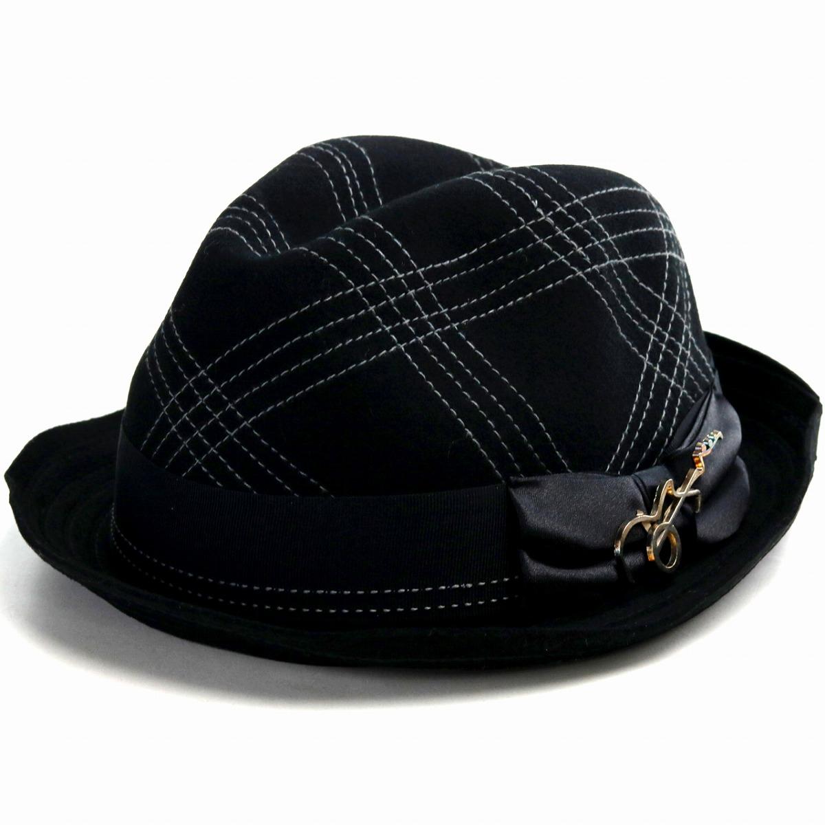 e8b36bb451b Carlos Santana men hat hat wool hat CARLOS SANTANA felt hat check soft ...