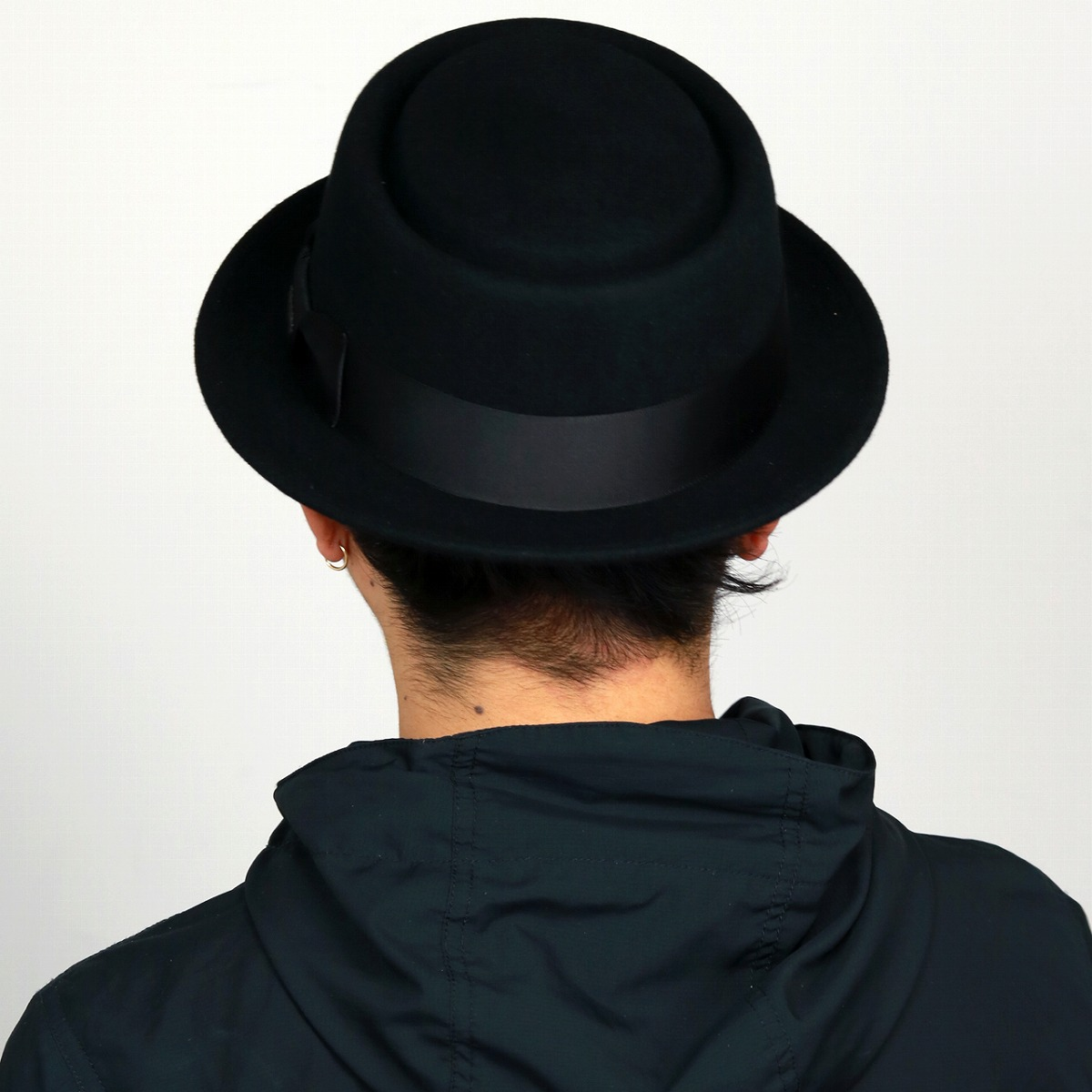 08a23050f The pork pie men STETSON hat size large size XL size wool felt hat Shin  pull plain fabric / black black [pork-pie hat] stetson hat mail order hat  ...