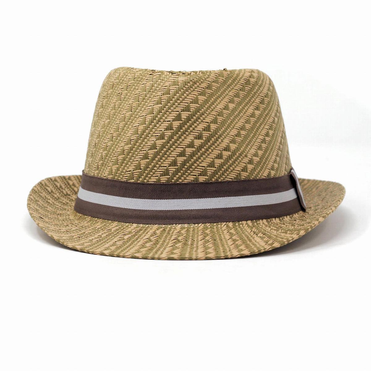 Size import hat whole pattern casual beige [cowboy hat] that HENSCHEL straw  hat men lady's paper HENSCHEL soft felt hat herringbone brand soft felt