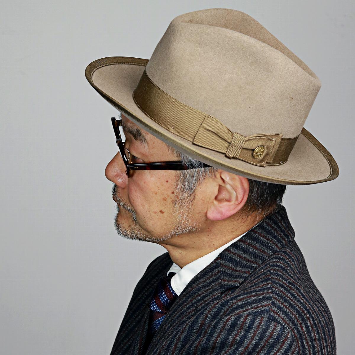 22f6d6a7d023 ... Ver.2 beaver rabbit Stetson vintage we pet piping soft felt hat high  quality hat ...