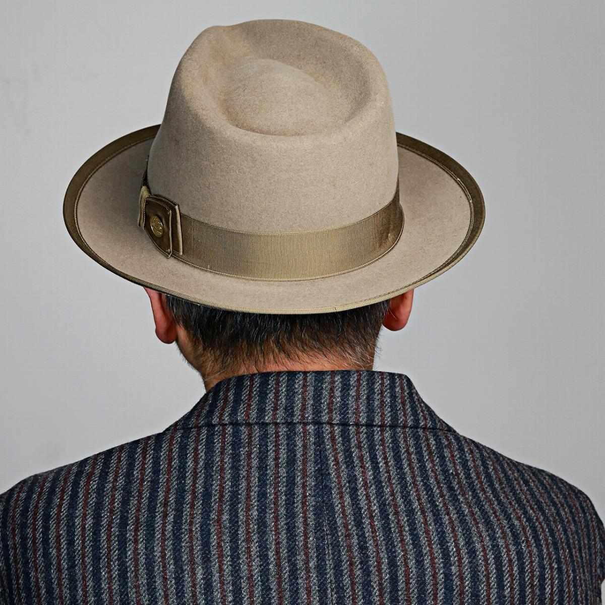 9d9adce58431 ... Ver.2 beaver rabbit Stetson vintage we pet piping soft felt hat high  quality hat