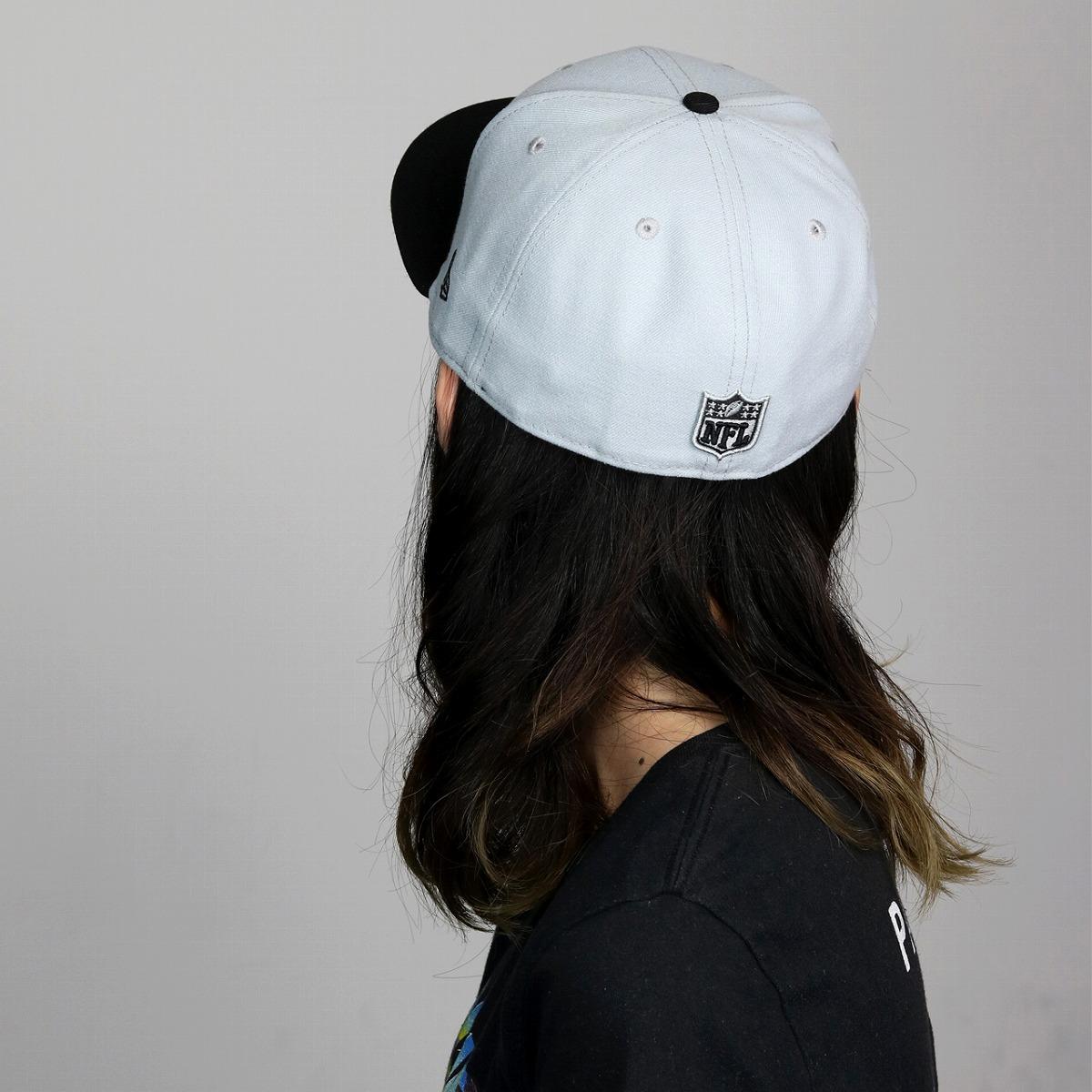 a008df514cc NEWERA cap men new gills new era 59FIFTY Oakland Raiders size richness  small shark size grain back logos treat fashion men brand   gray black X  team color ...