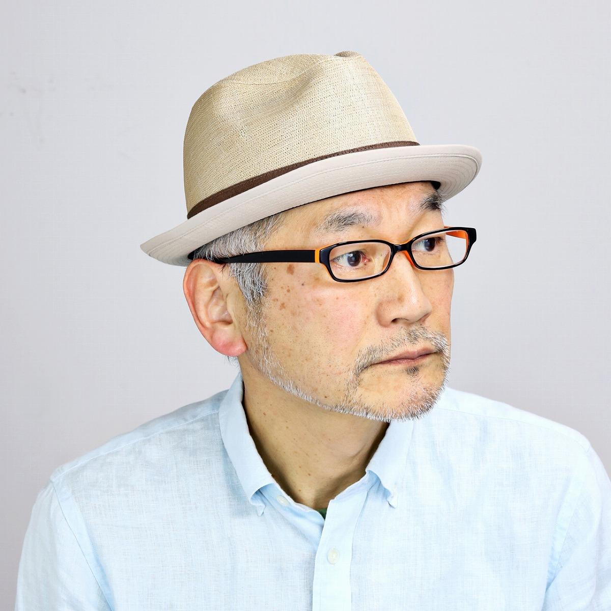 MATSUI リネン 中折れ帽 マツイ 日本製 帽子 シナマイ 中折れハット メンズ 春夏 帽子 麻100% ハット 中折れ 紳士 中折れ帽子 リボン 爽やか 涼しい M L LL 3L 大きいサイズ サイズ調整 サマーハット ナチュラル / ベージュ [ fedora ] プレゼント ギフト 帽子