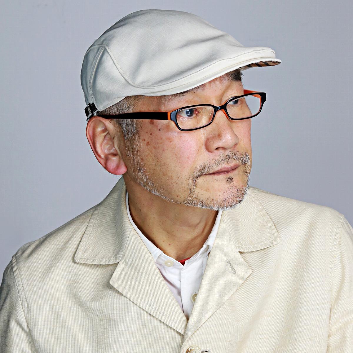 DAKS ハンチング メンズ 麻 シャンブレー ダックス 帽子 春夏 リネン ハンチング帽 紳士 帽子 上品 日本製 イギリス ハット ブランド 大人 シンプル 無地 S M L LL / ベージュ [ ivy cap ] ギフト プレゼント