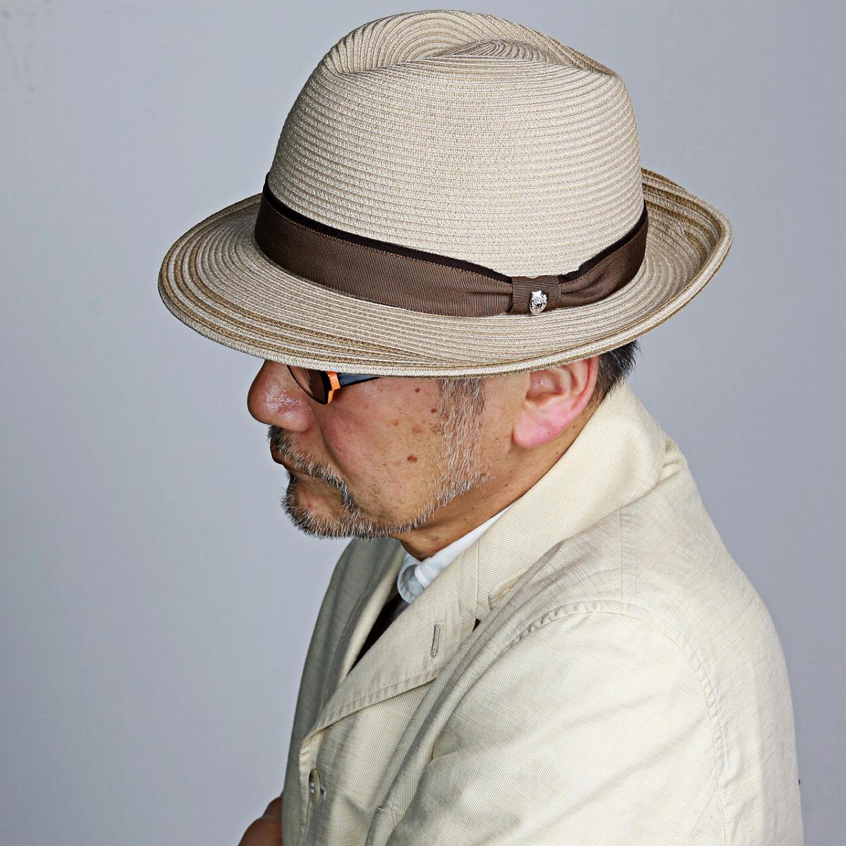 ダックス ハット シルク 細番手 DAKS 中折れ帽 メンズ 春夏 帽子 ライン入り daks 中折れ ブレードハット サイズ調節 日本製 英国ブランド 中折れ帽 紳士 おしゃれ 高級 上品 / ベージュ系 ブラウン リボン ナチュラル [ fedora ] 父の日 ギフト プレゼント