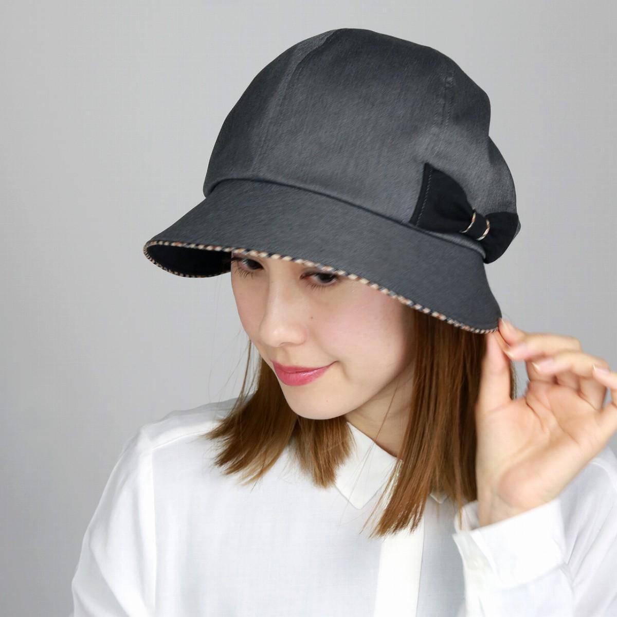DAKS Dax kathcrocshe Hat ladies Ribbon tasteful women s autumn winter made  in Japan   grey 1f4ddd6b367