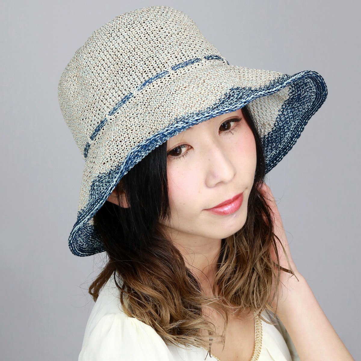 adad3485 daks Clocher Hat Womens Sun Hat linen spring/summer cool DAKS Hat  fashionable collar wide ...