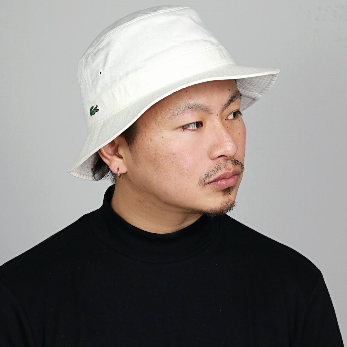 62702711 ELEHELM HAT STORE: LACOSTE bucket Hat Lacoste Hat Safari Hat white ...