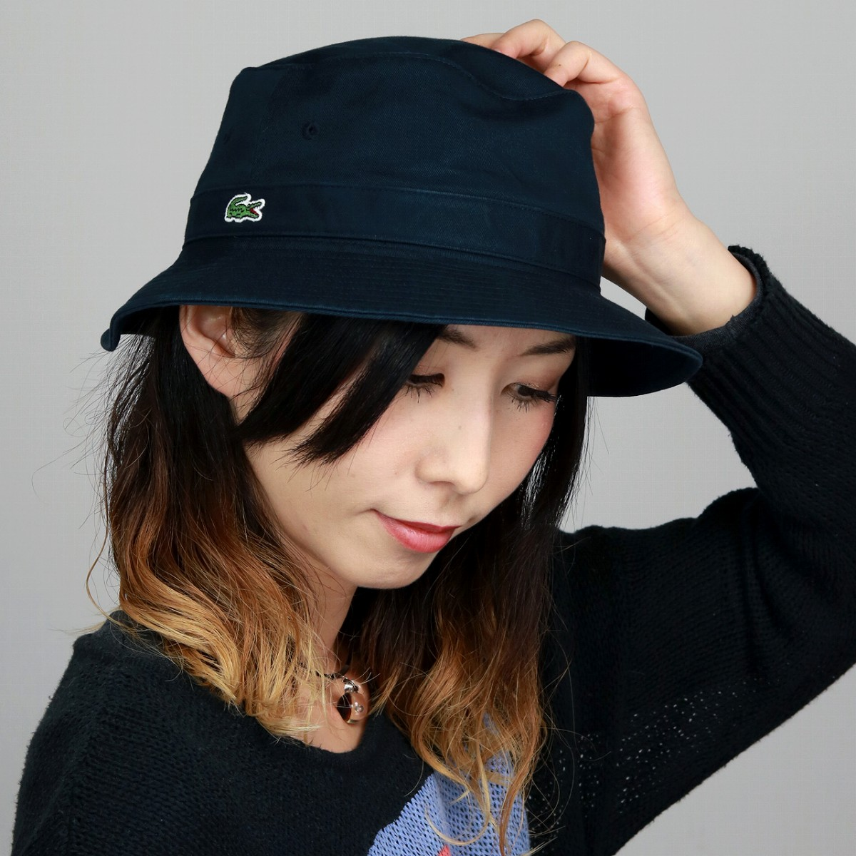 d4781649a5ee29 LACOSTE bucket Hat Lacoste Hat Safari Hat Navy Blue Navy. Contact Shop