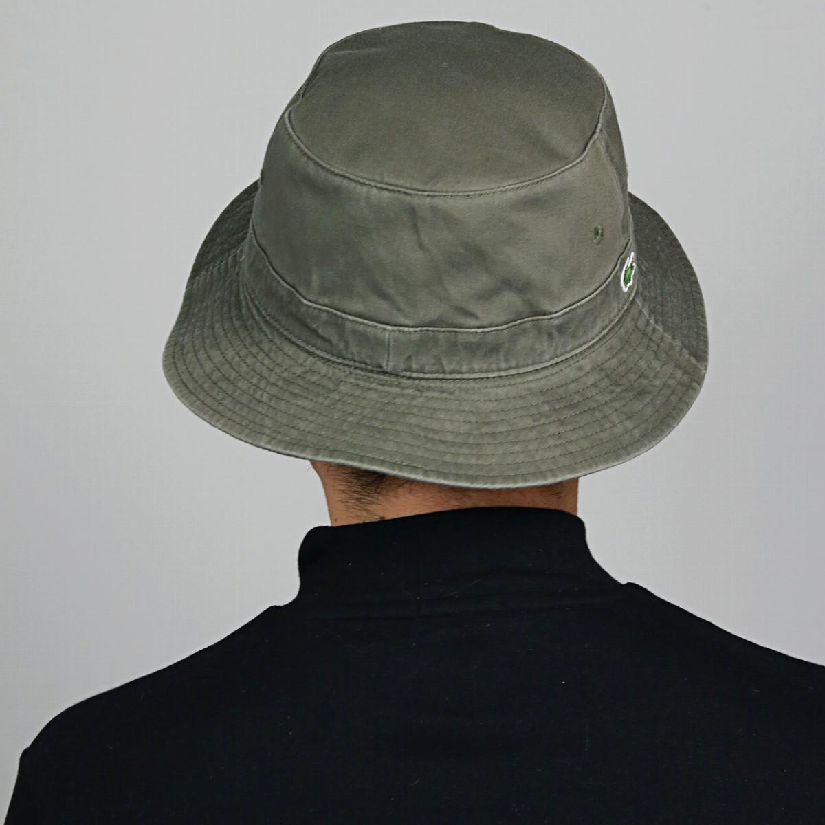 LACOSTE Bucket Hat Lacoste Safari Green