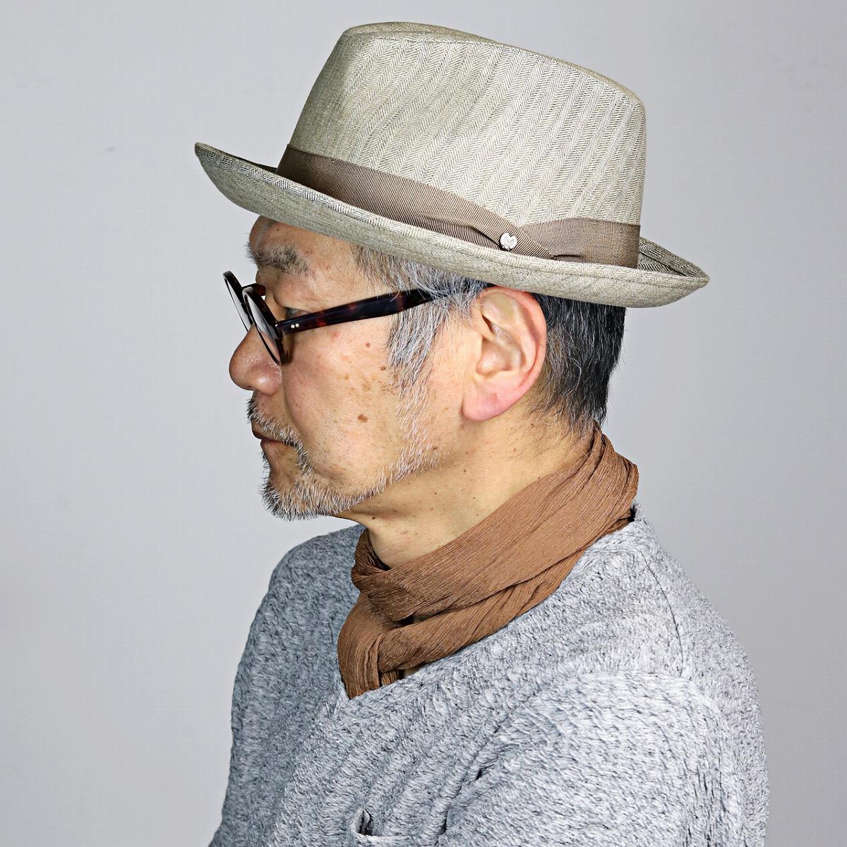 mila schon メンズ ハット ミラショーン 紳士 ニューレスコー型 中折れハット 帽子 紳士 プレゼント 春夏 HAT 麻 上品 ベージュ [ fedora ] [ hat ] (中折れ帽 中折れ 中折れ帽子 彼氏 バレンタイン 紳士帽子)