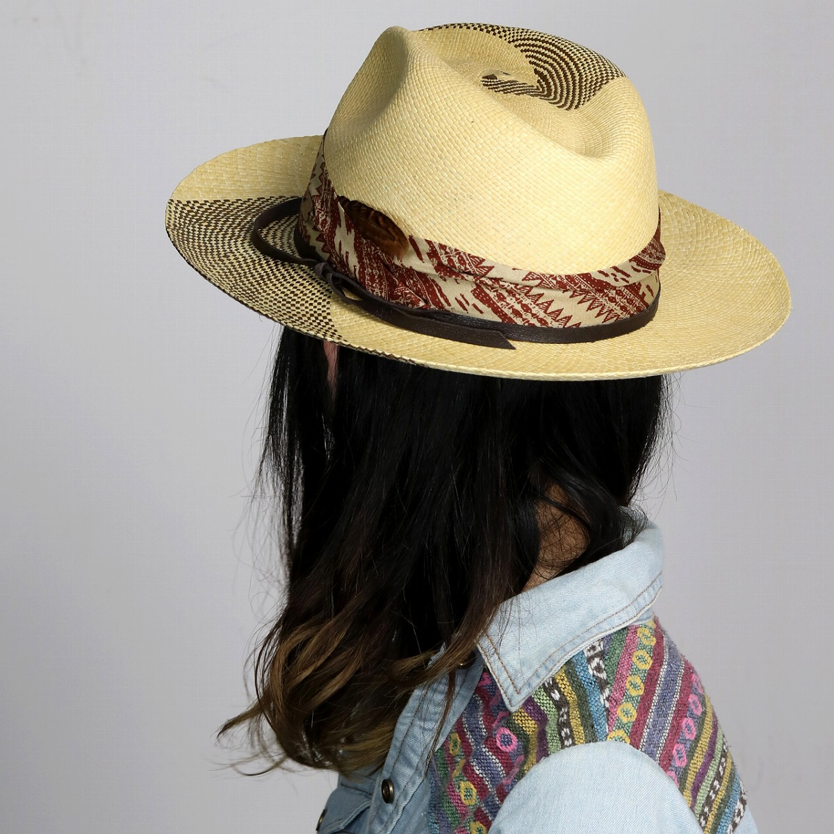 06c6e9e35 Size M L XL / natural [panama hat] that I compromise, and the straw hat  fashion with the soft felt hat hat import Panama hat band is big in Rayney  ...