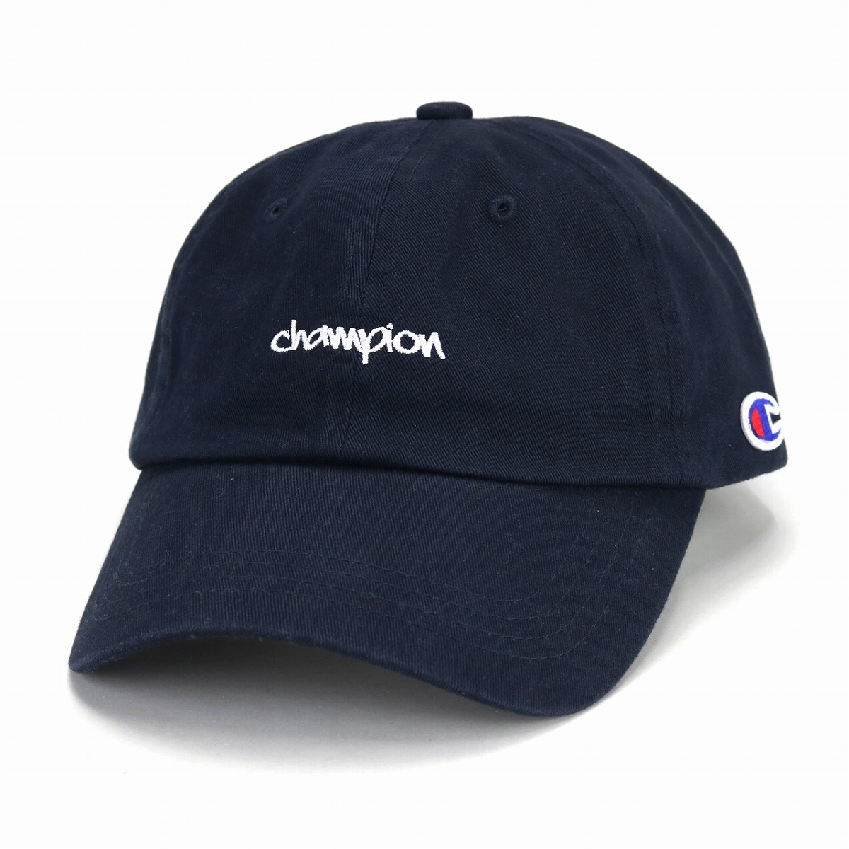 15ef8efef56 Champion hat cap men champion logo cap Lady s cotton oar season mini-logo baseball  cap sports brand popularity cap adjustable size   dark blue navy ...