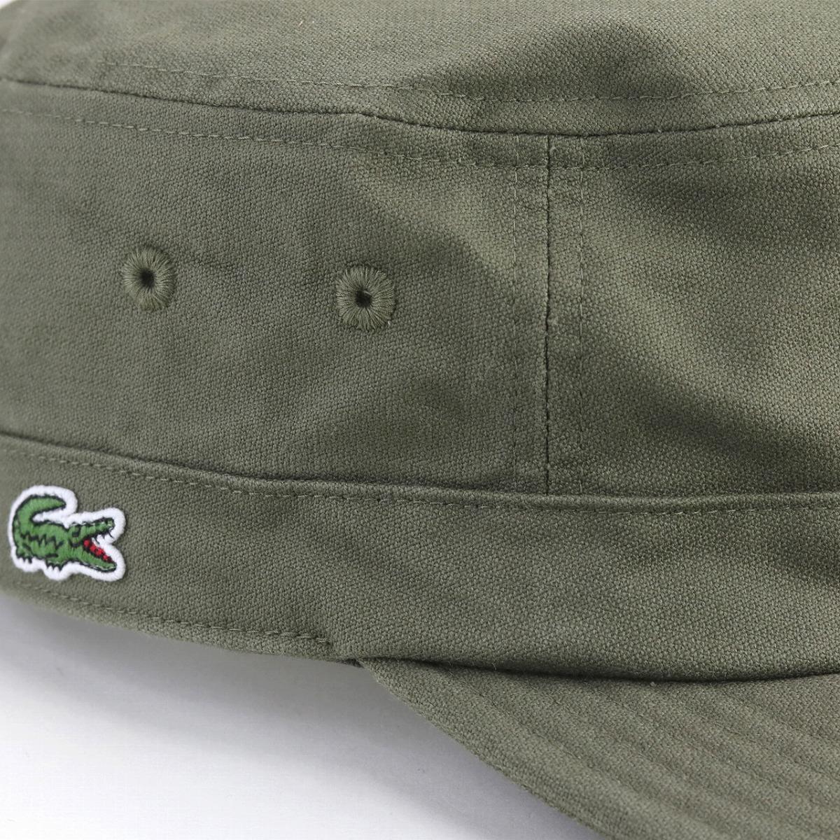 Shin pull plain fabric crocodile mark casual clothes 58cm military  coordinates / khaki [cadet cap] made in cap men Lacoste work cap hat