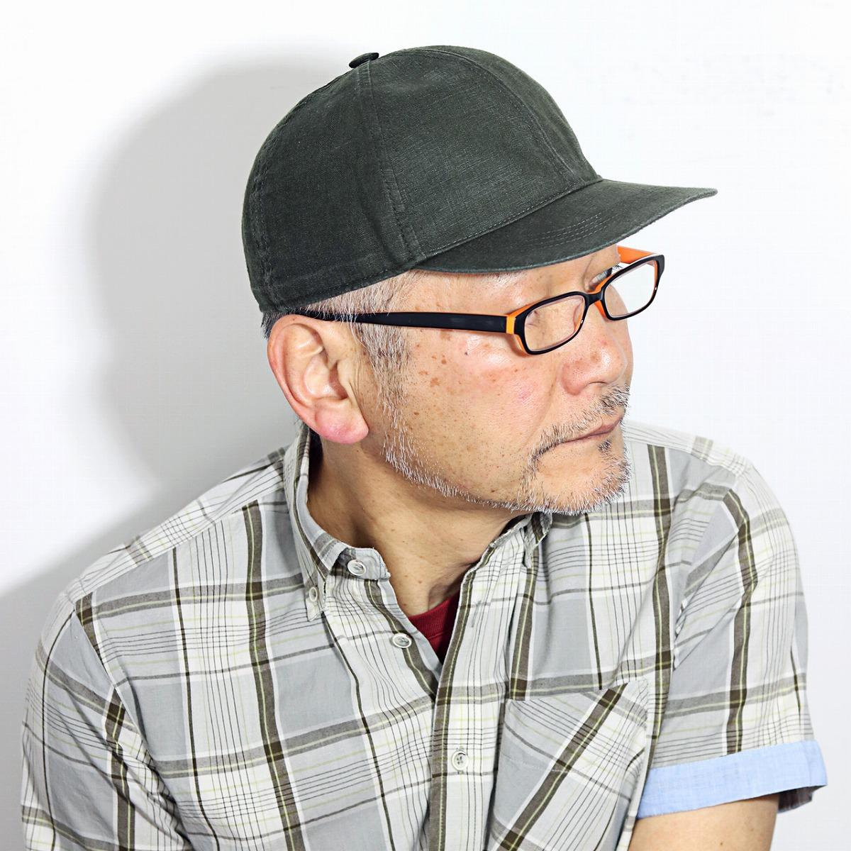 WIGENS キャップ メンズ 春 夏 涼しい 帽子 ウォッシュドリネン ウィゲーン ベースボールキャップ 大きいサイズ ビンテージ感 インポート ブランド 帽子 無地 シンプル リネンキャップ カジュアル 紳士 オリーブ[ cap ]父の日 プレゼント 男性 ギフト