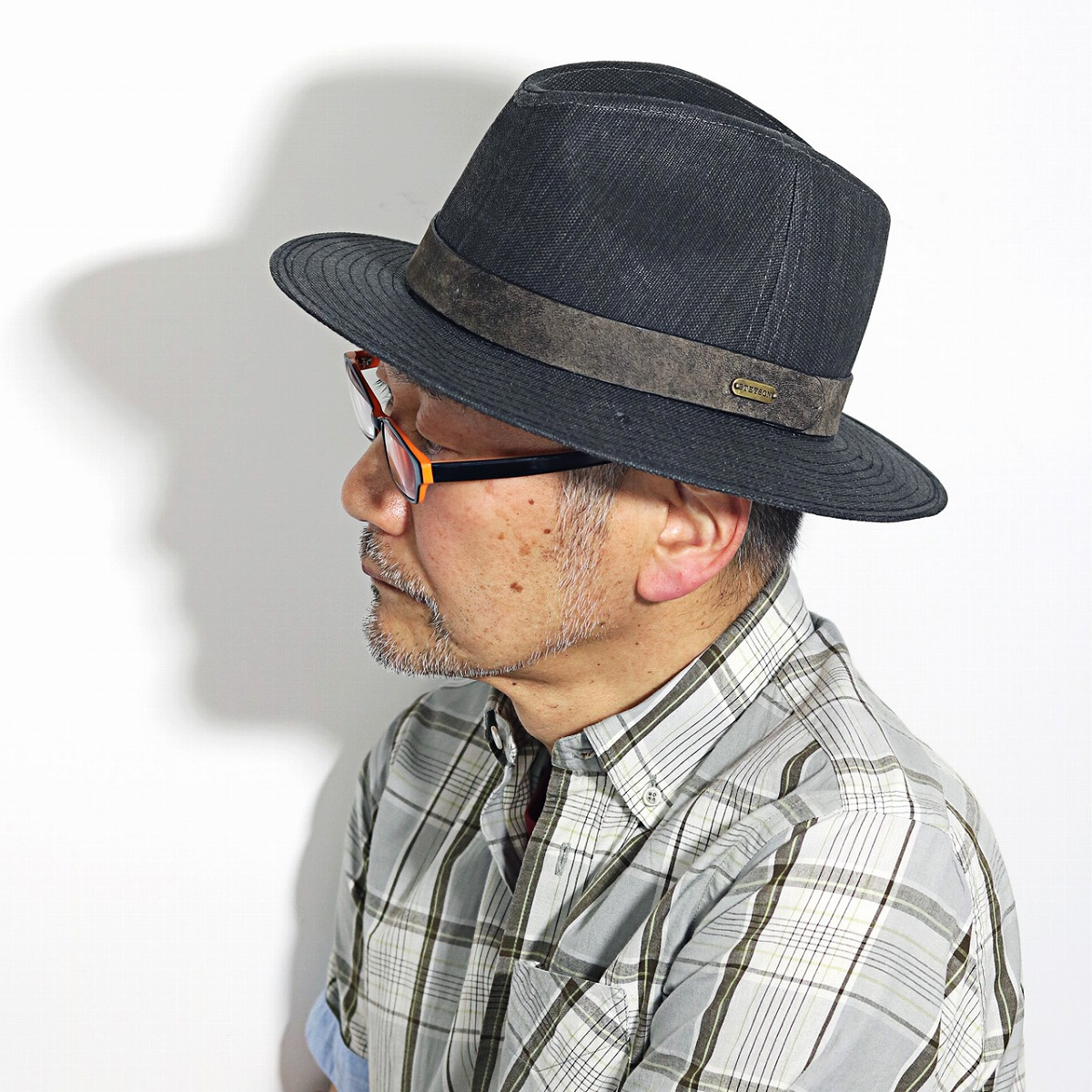 I present it in gift Father s Day on men paper soft felt hat hat stetson  brand ... a4409820a07