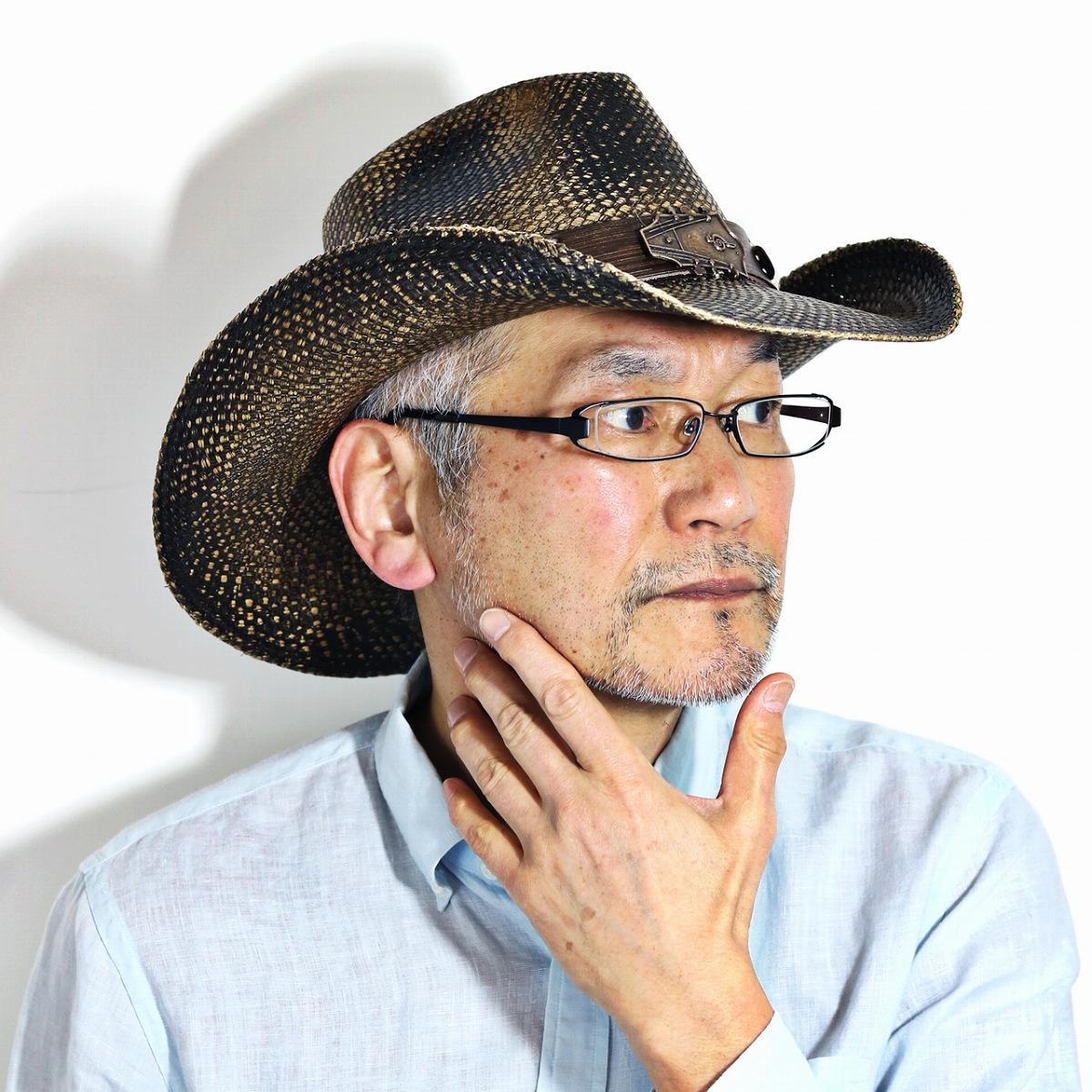 カリフォルニアハット 本パナマ テンガロンハット ギター バックルベルト カウボーイ ハット California Hat Company Inc. メンズ 帽子 日除け 春夏 パナマハット カウボーイ ヴィンテージ ストローハット ワイドブリムブラック ステイン [ cowboy hat ] [ panama hat ]