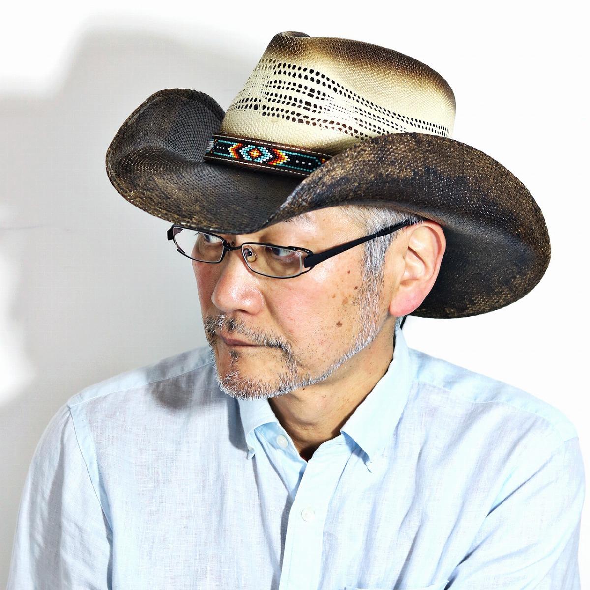 ストローハット メンズ エスニック 帽子 日除け テンガロン California Hat Company Inc. カウボーイ ハット 春夏 ウエスタン カリフォルニアハット 麦わら帽子 ワイドブリム インポート ナチュラル [ cowboy hat ] [ straw hat ] 父の日 ギフト プレゼント