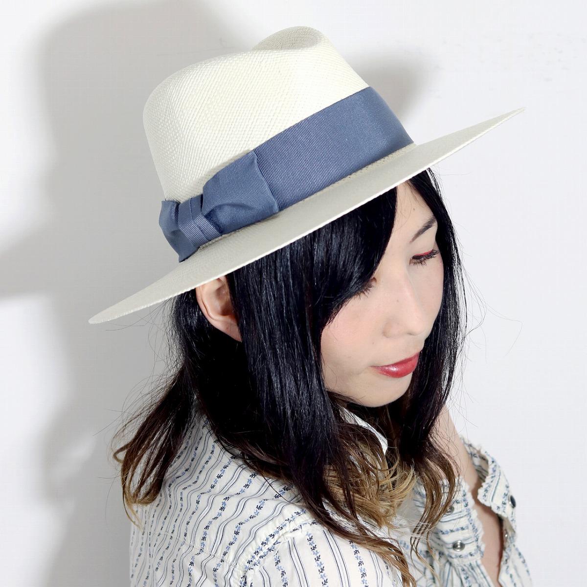 0310812b ELEHELM HAT STORE: Broad-brimmed hat Lady's white Y ditch rim GALLIANO  SORBATT panama hat white straw hat Mrs. hat Panama hat Mrs. awning saliva wide  hat ...