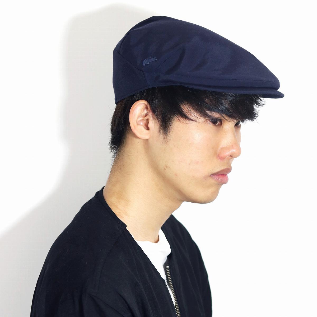 ラコステ ハンチング メンズ シンプル LACOSTE 帽子 春 夏 ハンチング帽 紳士 日本製 無地 58cm サイズ調節可 グログラン リフレスマイル 涼しい グログラン生地 ワニ ブランド レディース 帽子 紺 ネイビー [ ivy cap ] 父の日 ギフト プレゼント 男性 帽子