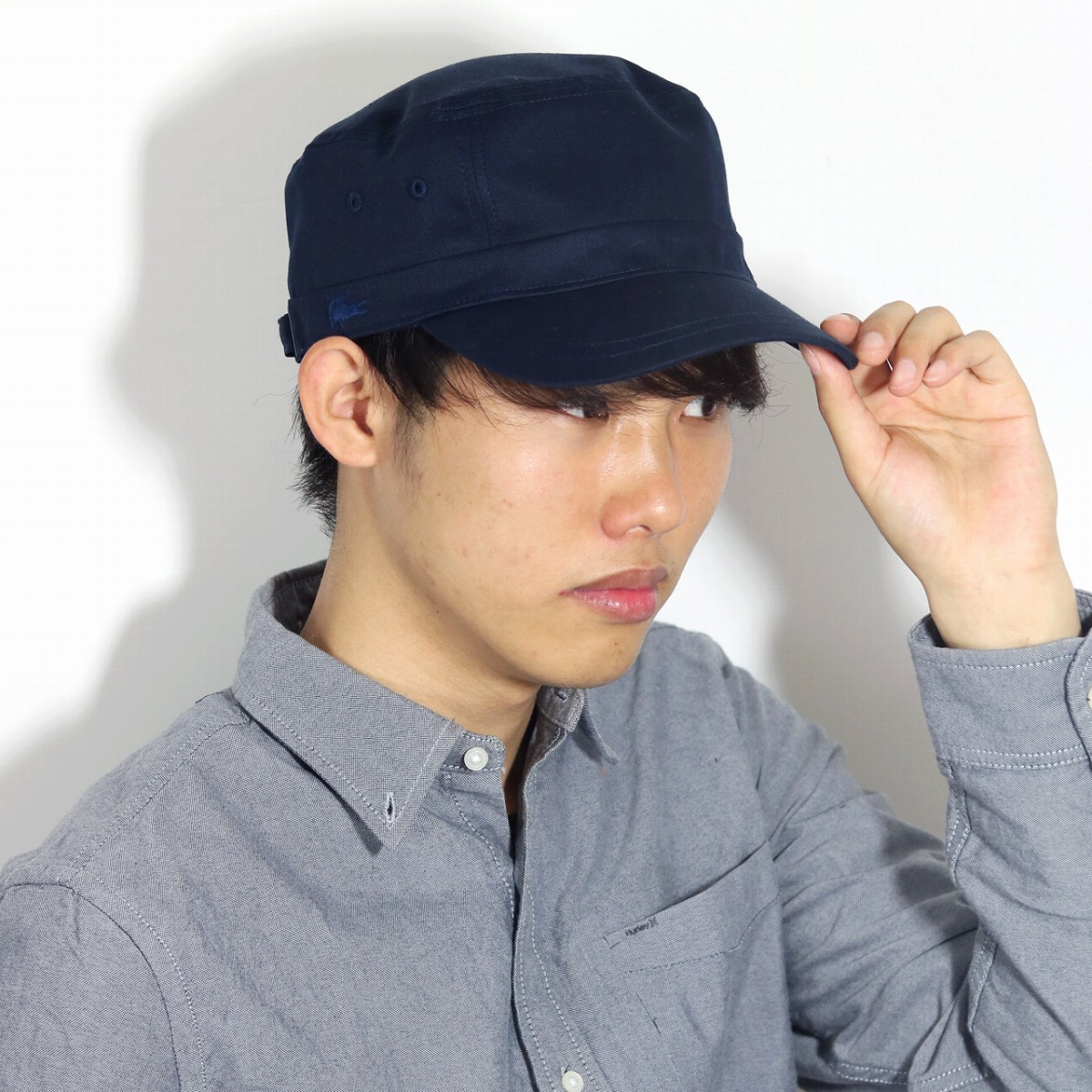 Lacoste men work cap LACOSTE CAP twill cap cotton Shin pull Lacoste Lady s hat  cap crocodile brand dark blue navy  cadet cap  Father s Day gift present  man ... 74cd94a27e1