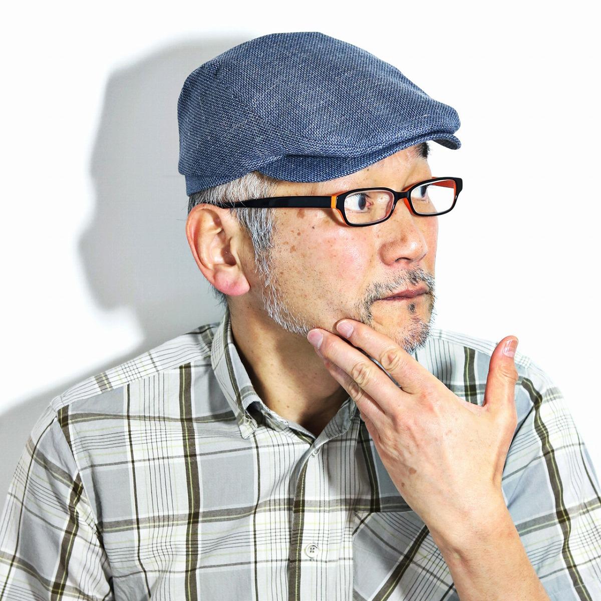 MAYSER 帽子 ハンチング メンズシルク混 軽量 マイザー やわらか ハンチングキャップ Frankie 絹 麻 ウール ハンチング帽 短つば 軽い 柔らかい ウール混 インポート 海外輸入 帽子 青 ブルー [ ivy cap ] 父の日 ギフト プレゼント