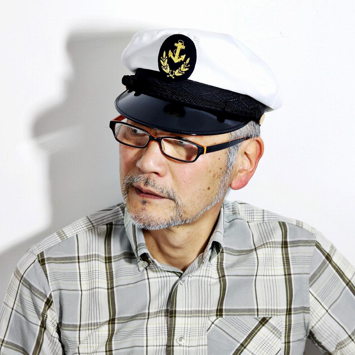マリンキャップ WIGENS インポート 帽子 海軍 ウィゲン 春 帽子 夏 さわやか 父の日 ギフト ハンチング ブローチ付き 高級 マリンキャスケット お洒落 本格的キャプテンハット 高級 帽子 船長 ホワイト 白[ marine cap ]父の日 ギフト プレゼント