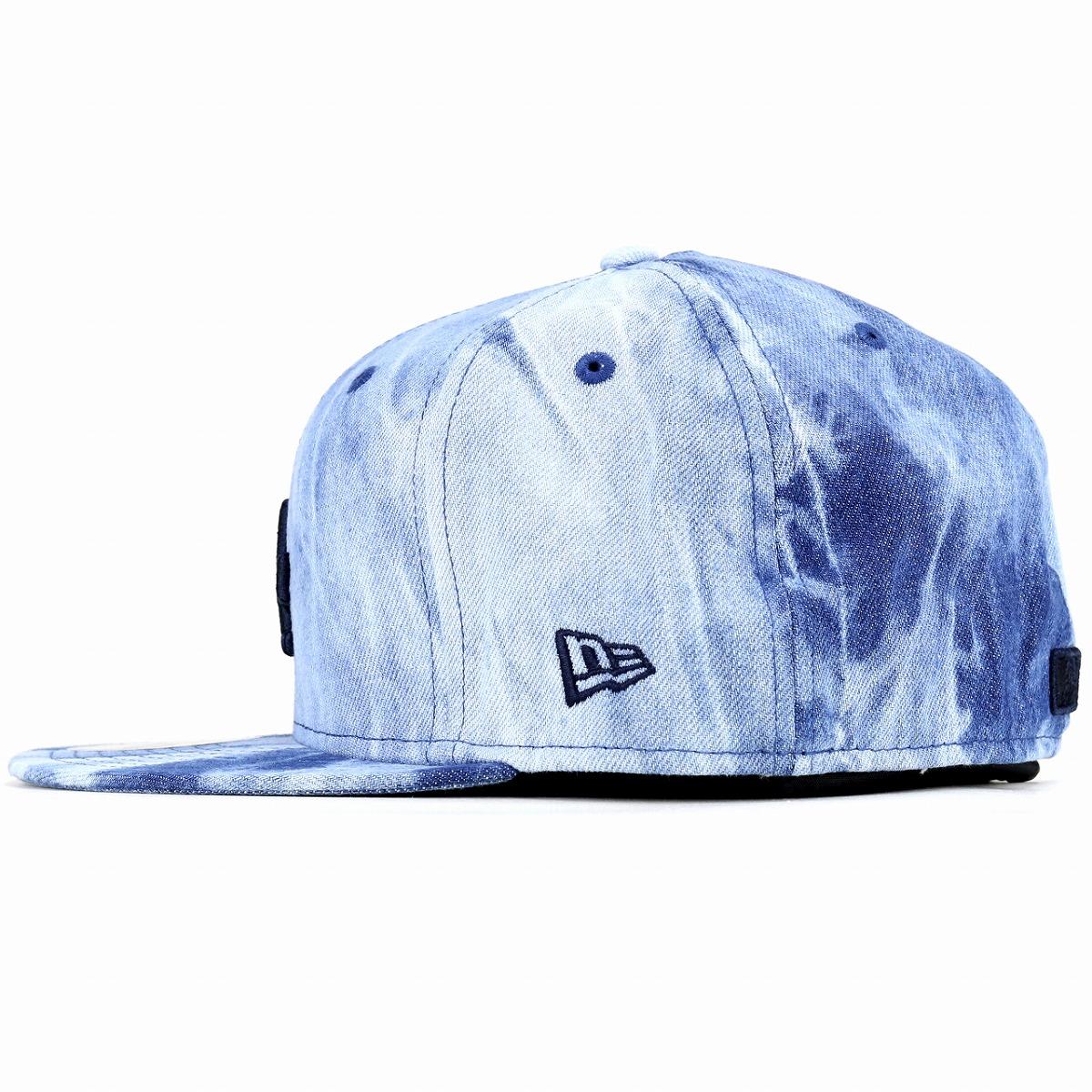 ... NEWERA cap bleach denim new gills Los Angeles Dodgers men gap Dis Tie  Dye Denim 59FIFTY ... 49302558821c
