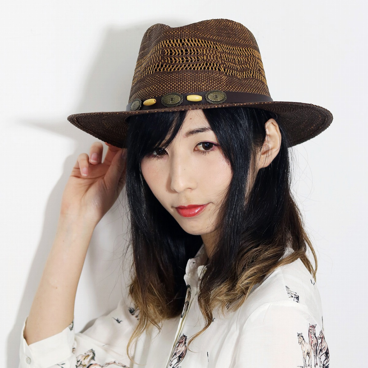 83d5c124e44f55 ELEHELM HAT STORE: The unisex gift present straw hat soft felt hat hat  paper men gap Dis hat ドーフマン DORFMAN PACIFIC [straw hat] tea brown that straw  hat ...