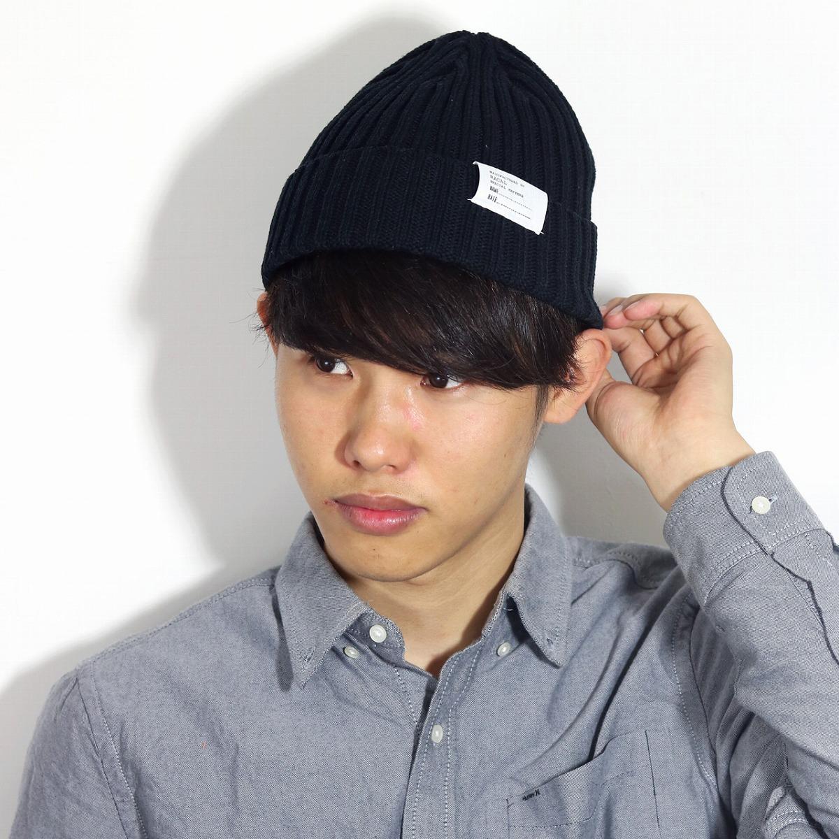4e99718bb95 ELEHELM HAT STORE  Product made in rib knit hat Lady s knit cap Japan racal  ニットワッチフリーサイズユニセックスサマーニット hat   black black  beanie cap  ...