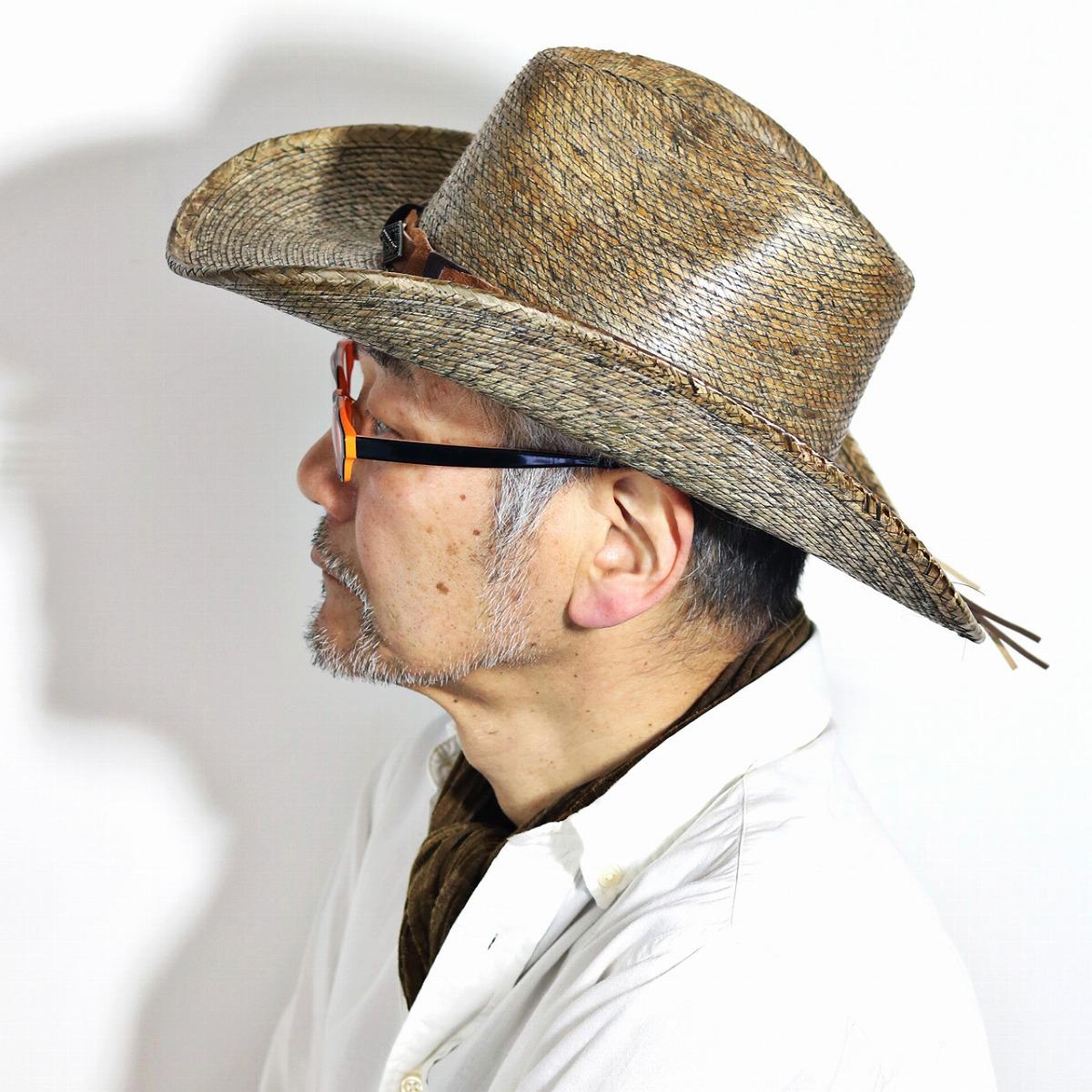 5c735cbca2be3 Mens Stetson Straw Cowboy Hats - Parchment N Lead