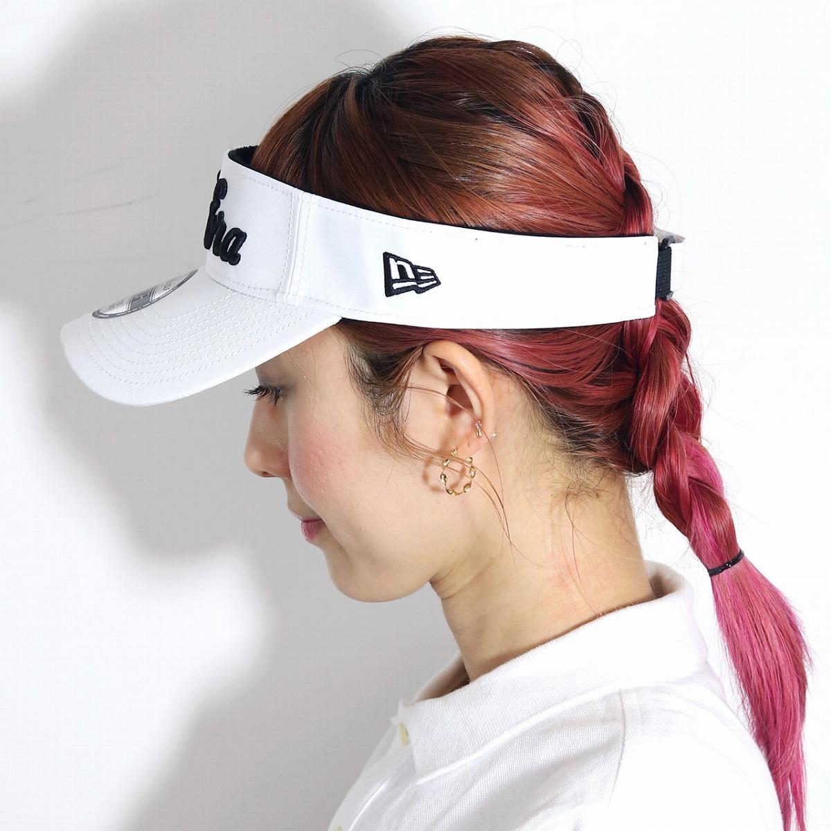 c078aa60 ... The logo that hat Lady's sun visor Lady's UV / white white [visor]  PEPSI ...