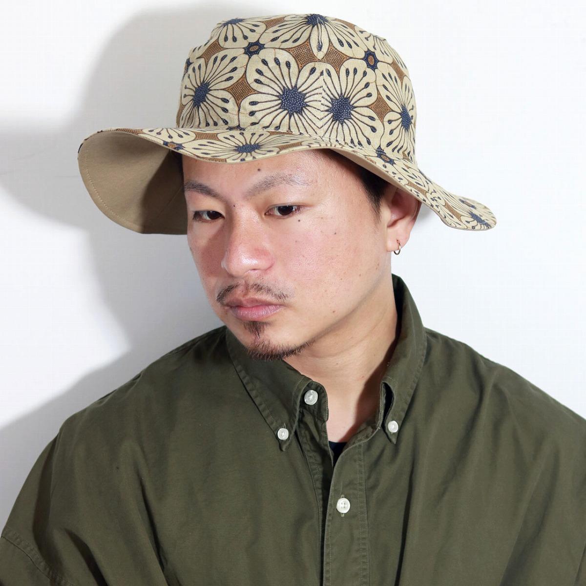 Racal Hat mens sahari Hat reversible floral Hat reversible solid handle  spring summer 30s 40s 50s ... 4770d5acb74