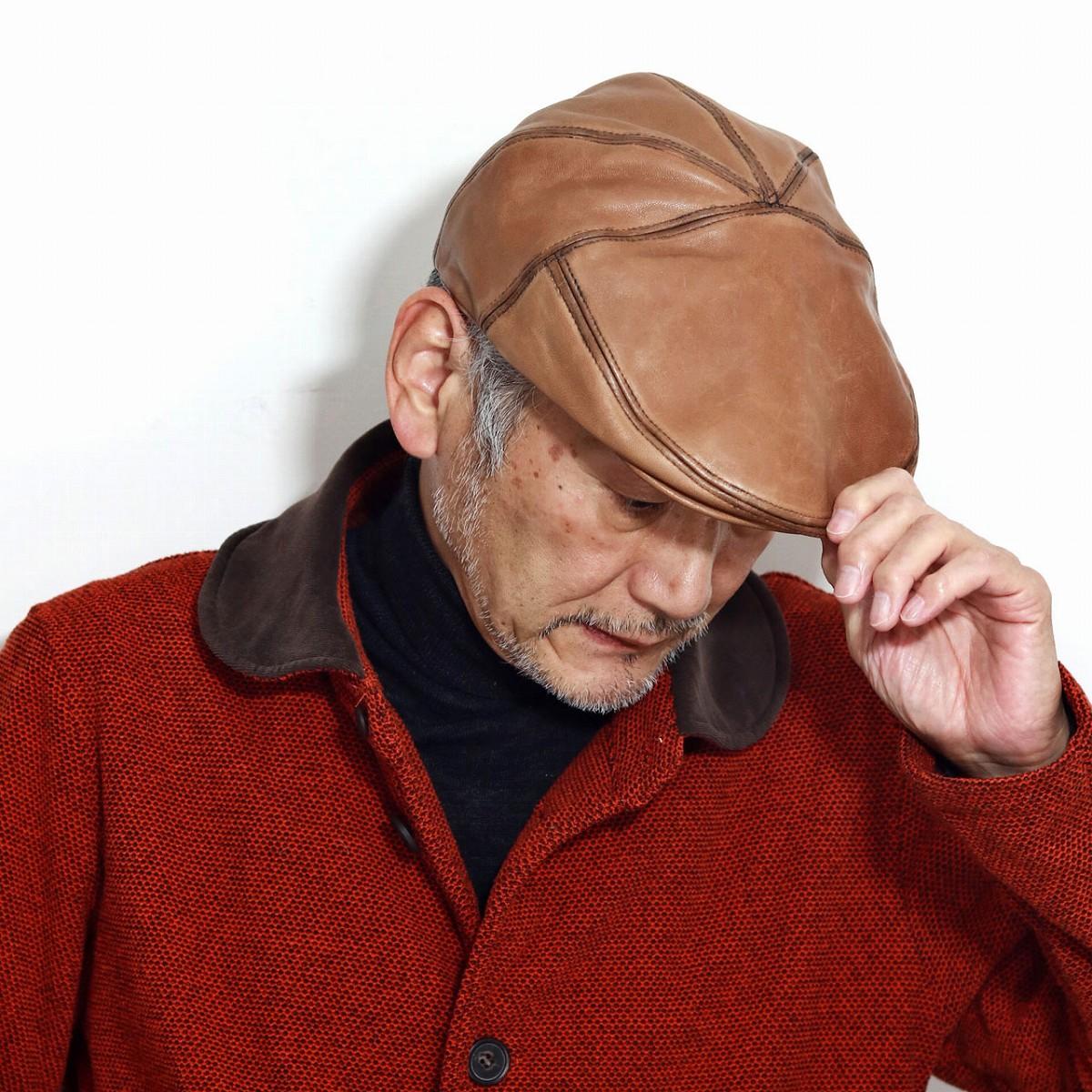 Bailey ハンチング 秋 冬 帽子 ベイリー レザー ラムスキンレザー メンズ 高品質 羊革 ハンチング帽 紳士 大きいサイズ アイビーキャップ レトロ 海外 ブランド インポート M L XL 茶 ブラウン スコッチ[ ivy cap ]