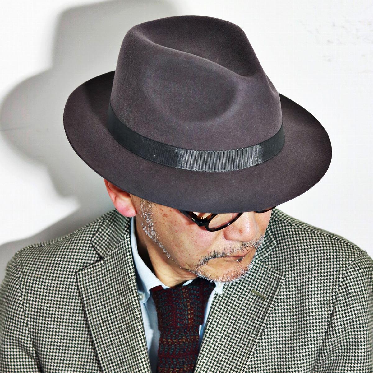 クリスティーズ ハット CHEAPSTOW CHRISTYS' LONDON フェルトハット 秋冬 クリスティーズロンドン 中折れハット 中折れ帽子 グレー[fedora](40代 50代 60代 ファッション フェルト プレゼント ギフト メンズハット メンズ帽子 ブランド帽子 リボン 紳士帽子 ぼうし)