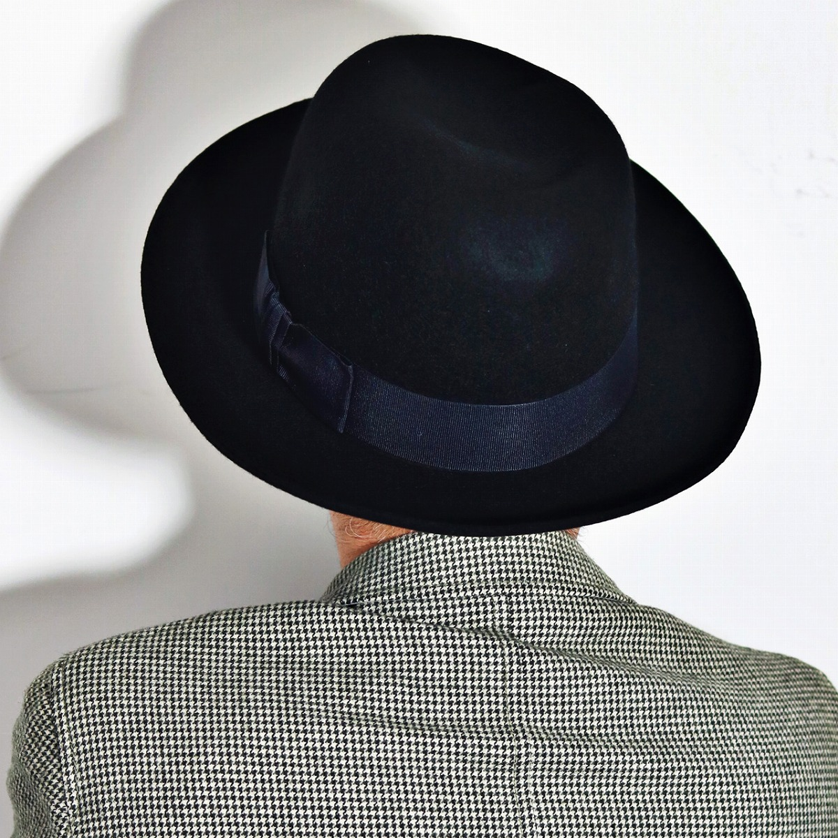 Shaped hats like Christie can freely open Crown Hat Hat mens Womens  CHRISTYS ' LONDON Ealing Poet fall/winter class black [boater hat] (40s 50s  60s