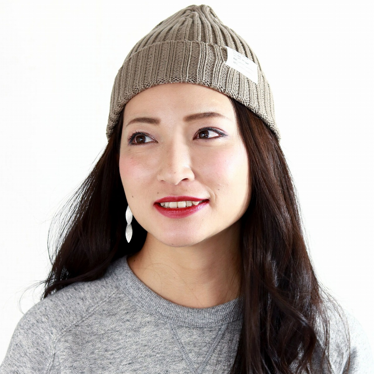 54aa48d49cfb0 It is a present hat man gift on beanie Shin pull   beige  beanie cap   Respect for the Aged Day in product made in lady s knit cap hat Japan racal  ニット ...