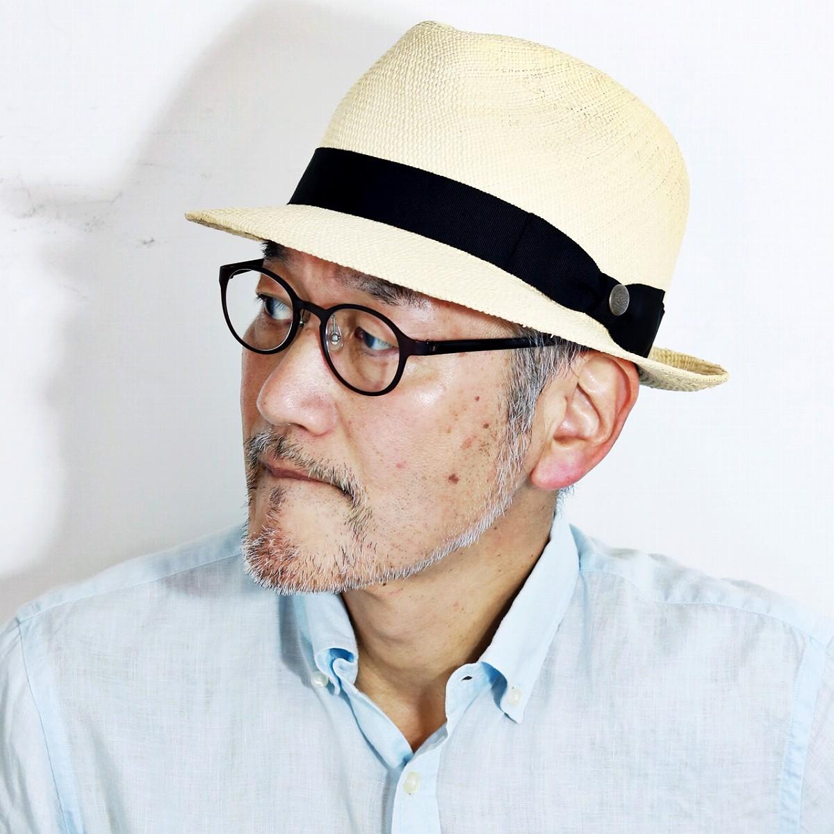 パナマハット メンズ 夏 日本製 ステットソン 帽子 ブランド ハット 中折れハット パナマ草100% STETSON パナマ帽 紳士 60cm サイズ調整 黒リボン / ナチュラル [ fedora ] [ panama hat ] 父の日 ギフト 誕生日 プレゼント