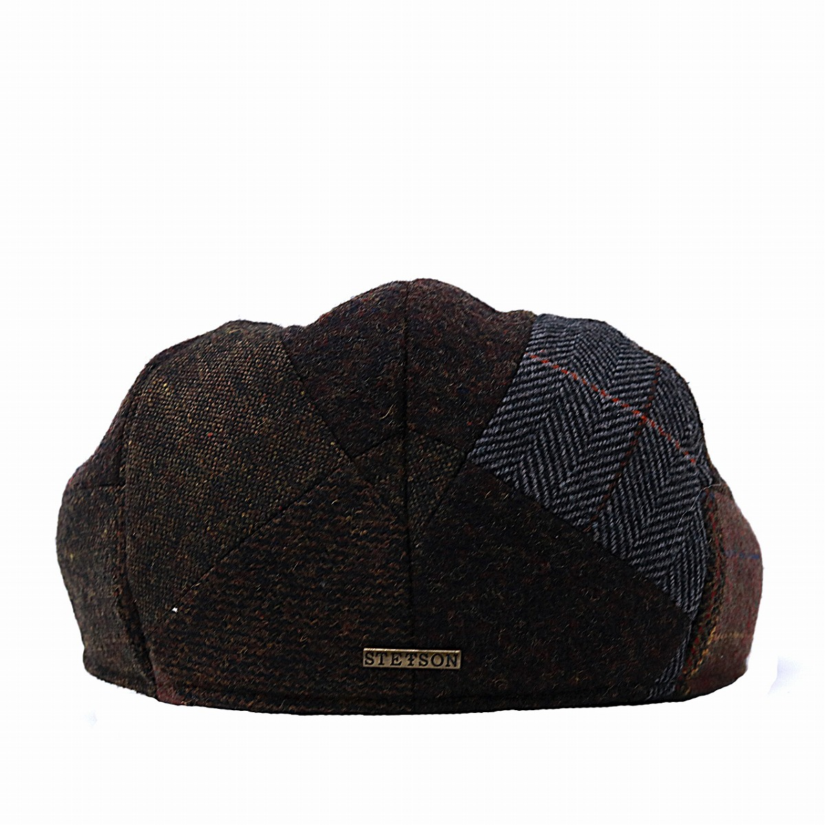 873dd47bea8 Hunting cap STETSON patchwork wool fabric hat men hunting cap hat checked  pattern gentleman Stetson ivy cap check cold protection tea brown [ivy cap]  ...