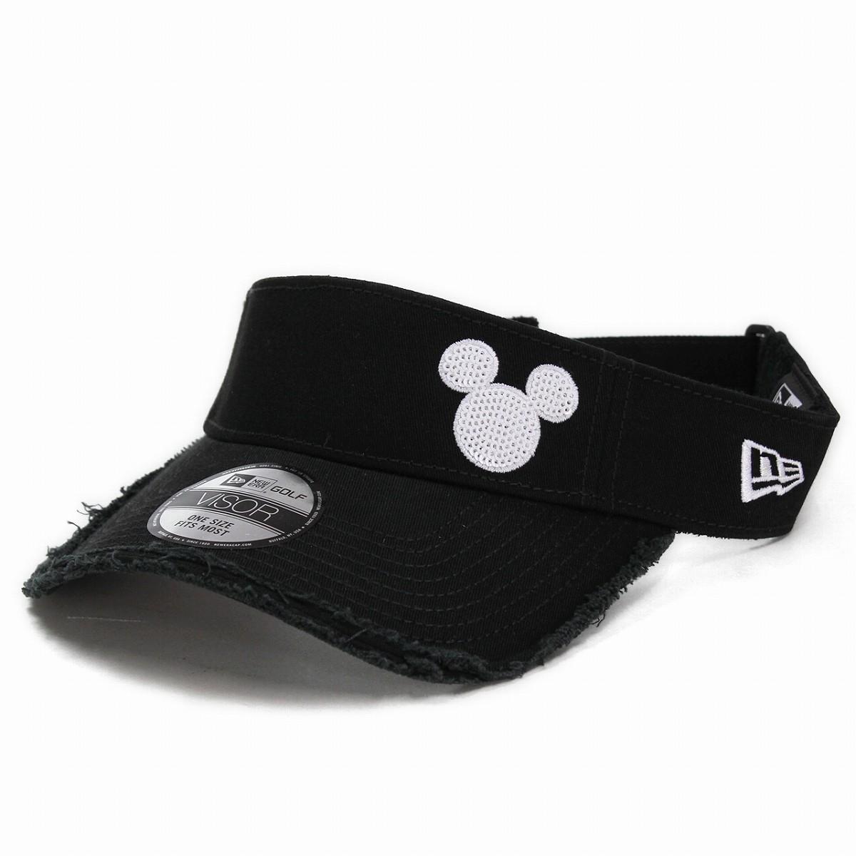 ELEHELM HAT STORE  NEWERA GOLF new gills golf sun visor Disney hat black  black Mickey  5ffc8d047a8