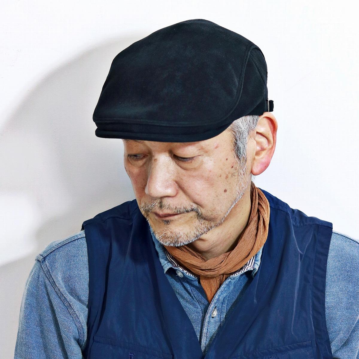 ELEHELM HAT STORE: Product made in Japan black black raised in Daks calf  suede style hunting cap men hat polyester hunting cap hat plain fabric DAKS  U.K. ...