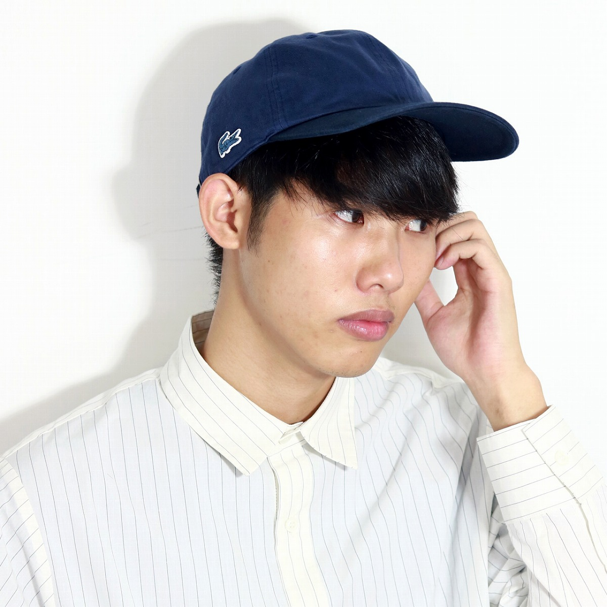 753856e4deea1e ELEHELM HAT STORE: I wash it in the lacoste cap back satin 硫化染 Lacoste  embroidery logo cap men four season, and processing one wash crocodile one  point ...