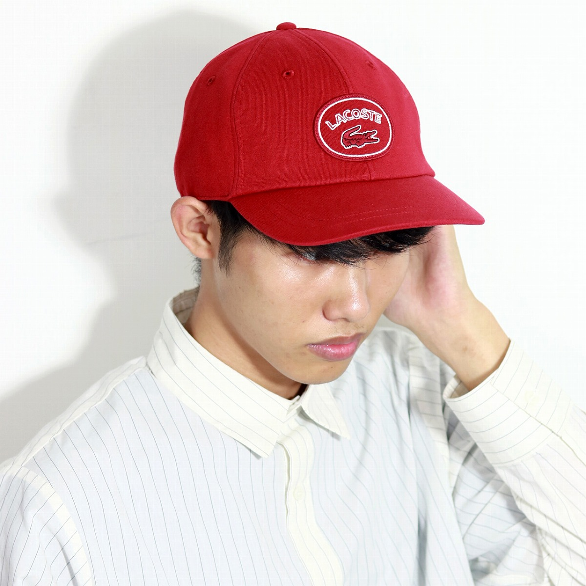 bcbcc546b8d Jersey Lacoste baseball hat cap Lady s   red red made in hat men  ultraviolet rays measures LACOSTE cap men CAP Japan in the fall and winter
