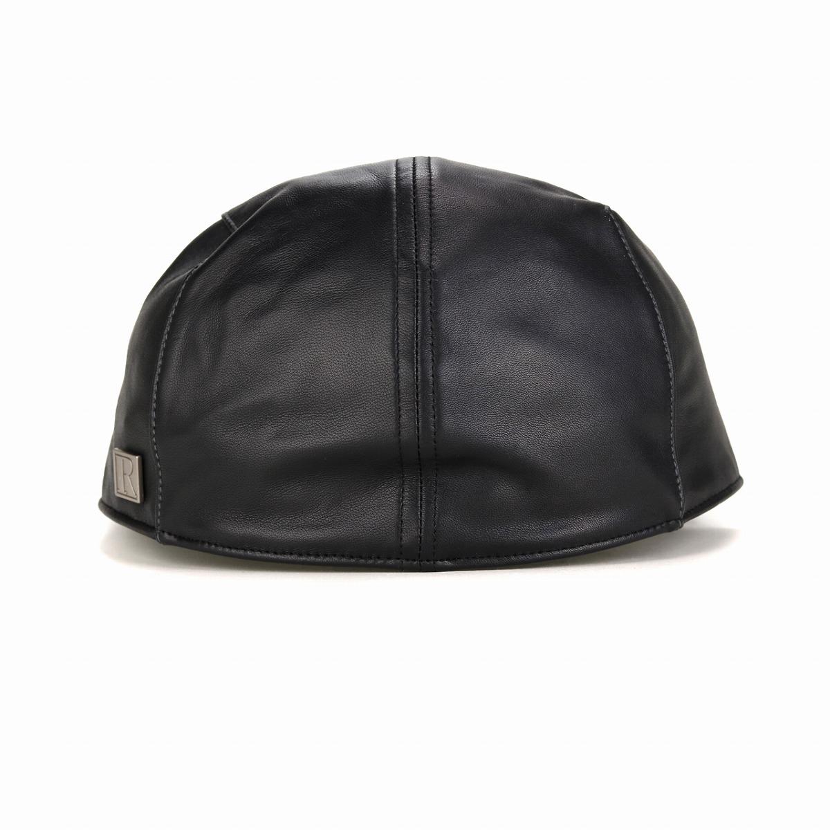 d16b25d79 Leather hunting cap hat men sheep leather hunting cap hat ブランドレガリス NAPPA  LEATHER ナッパレザー REGALIS men / black black