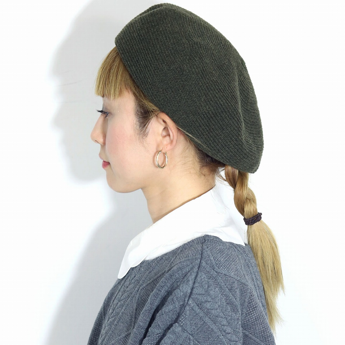 9e8c286c ... Wool blade brand beret men hat Lady's accessory wool beret hat olive  cold protection adjuster size ...